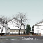 Charles St. perspective of the new additions